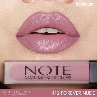 Note Matte Moist Lipgloss #412 FOREVER NUDE