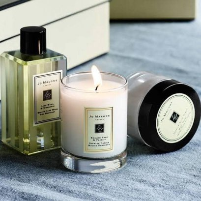 JO MALONE English Pear & Freesia Travel Candle เทียนหอม 60g. (No Box)