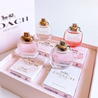 Coach women's deluxe Mini perfume set 4 กลิ่น