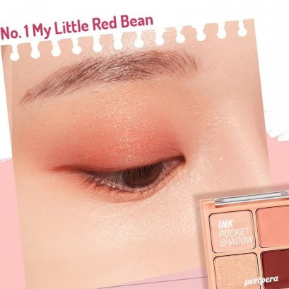 PERIPERA Pocket Shadow Palette #1 My Little Red Bean