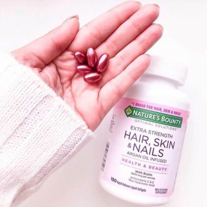 Nature's Bounty Optimal Solutions Extra Strength Hair Skin & Nails 250 Softgels