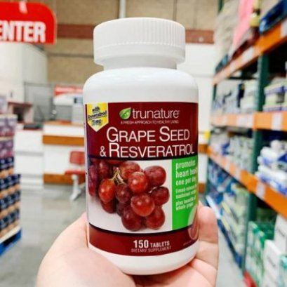 Trunature Grape Seed and Resveratrol 150 Tablets