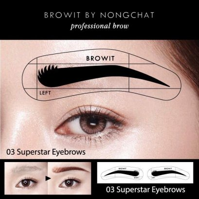 Browit By Nongchat Easy Drawing Brow Sticker 12Pairs #03 Superstar Eyebrow
