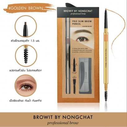 Browit By Nongchat Pro Slim Brow Pencil 0.06g #Golden Brown