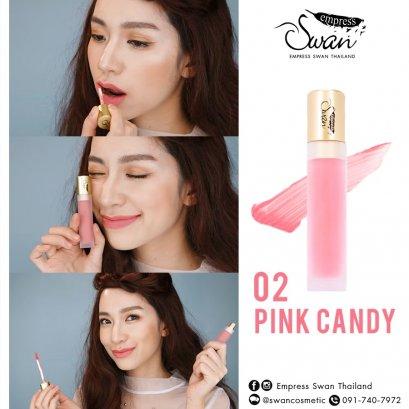 Empress swan Velvet matte Lip #02 PinkCandy