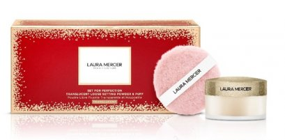 Laura Mercier Set For Perfection Translucent Loose Setting Powder & Puff Translucent (Limited Edition)