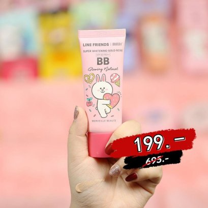 MILLE SUPER WHITENING GOLD ROSE BB CREAM SPF 30 PA++ (LINE FRIENDS) #1 Silky Ivory
