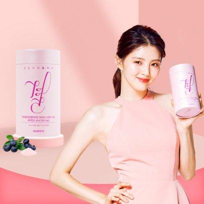 Lemona Gyeol Collagen 1000mg คอลลาเจนเกาหลี กระปุกชมพูอ่อน (60 ซอง)