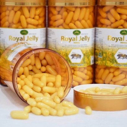 Nature's King Royal Jelly 1000mg 365 Soft Capsules (นมผึ้ง)