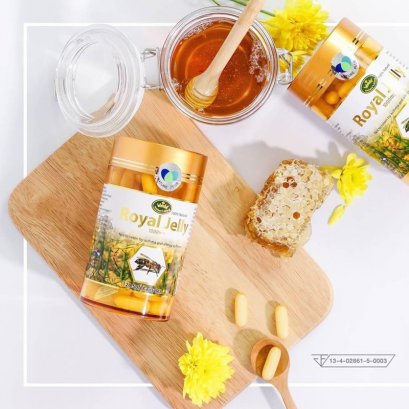 Nature's King Royal Jelly 1000mg 120 Soft Capsules (นมผึ้ง)