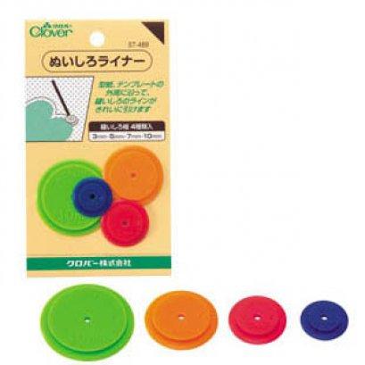 อุปกรณ์วาดเผื่อขอบผ้า 0.3, 0.5, 0.7, 1 cm ของ Clover