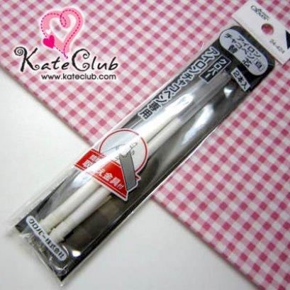 ไส้หมึกปากกาสีขาว สำหรับผ้าสีเข้มๆ ของ Clover (2 แท่ง) **ลบได้ด้วยความร้อน