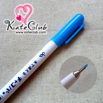 ปากกาเขียนผ้า chaco หัวเข็ม - สีฟ้า จาก JAPAN (เส้นลบได้ด้วยน้ำ)