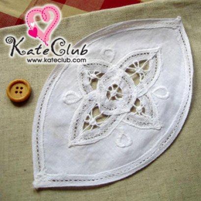 ป้าย Cotton รูปวงรี *ใช้เย็บตกแต่งกระเป๋า (ขนาด 17x10.2 cm.)