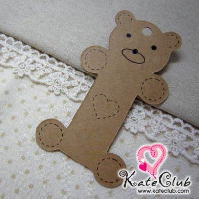 แผ่นกระดาษสำหรับพันเก็บริบบิ้น ลายน้องหมีผอม (ขนาด 5.5x10 cm.)