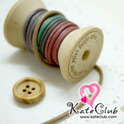 เชือกใช้ทำ Key Cover สีเหลือบ เขียว-น้ำตาล-ชมพู 1 หลา (เส้นกลาง เส้นผ่านศก. 2.5 mm)