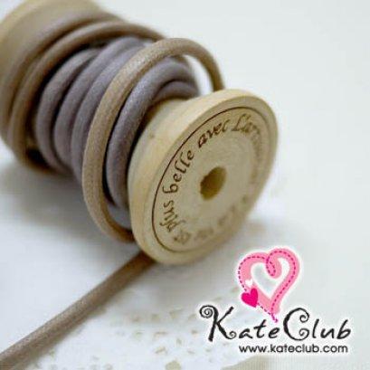 เชือกใช้ทำ Key Cover สีเหลือบ น้ำตาล-ม่วง 1 หลา (เส้นใหญ่ เส้นผ่านศก. 4 mm)
