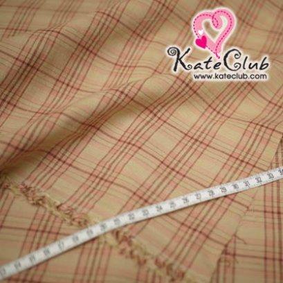 SALE - ผ้า Country No.23 ลายตาราง (ตัดขาย 1/2 เมตร=50x110cm)