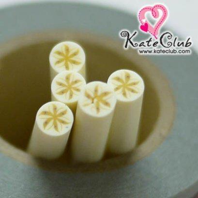 กล้วยกลม - Polymer Clay Cane - 5mm (1 แท่ง)