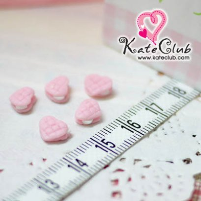 เค้กหัวใจไส้ครีม - ขนาด 8 mm (1 set มี 8 ชิ้น)