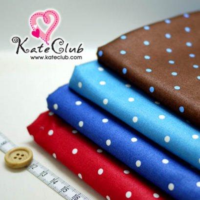 (สีน้ำตาลหมดค่ะ) ผ้า Cotton ของ คุณ Akiko No.5 (1/4 เมตร) ** เนื้อผ้าจะออกเงาๆ ค่ะ (คลิกเลือกสีด้านใน)