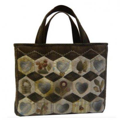 ชุดอุปกรณ์เย็บกระเป๋า Hexagon ดอกไม้ By Minami Kumiko