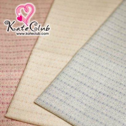 (เหลือแค่ สีชมพูอ่อน ค่ะ) ผ้า Cotton มาซาโกะ No.49 ลายเส้นดอกไม้เรียงแถว (1/4 เมตร) **คลิกเลือกสีด้านใน
