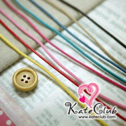 (สีน้ำตาลเข้ม/น้ำตาลอ่อน/เหลือง/ชมพู1/ชมพู2 หมด) เชือกราคาประหยัดใช้ทำ Key Cover 1 หลา (เส้นเล็ก เส้นผ่านศก. 2 mm) **คลิกเลือกสีด้านใน