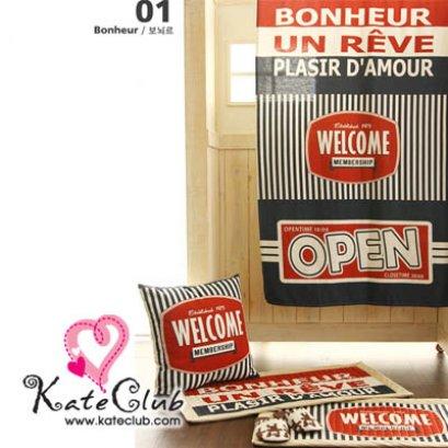 (เหลือ 1 บล็อคสุดท้ายค่ะ) ผ้าบล็อคคอตตอนผสมลินิน - ลาย Bonheur 2013 American vintage (1 บล็อคขนาด 86x136cm)