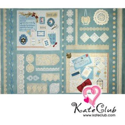 ผ้าบล็อค คุณ Masako - Home Made Sewing - สีฟ้า (1 บล็อคขนาด :76x110 cm)