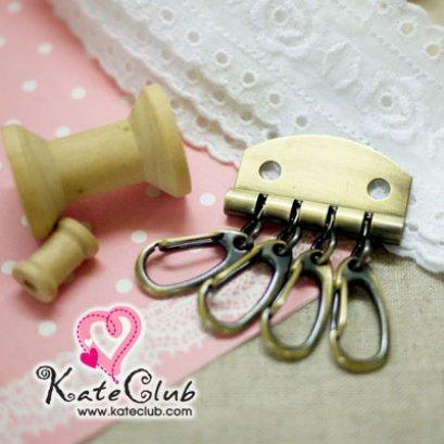 ที่เก็บกุญแจ สีทองเหลือง ขนาด 3.4x5 cm (1 แพค มี 3 ชิ้น)