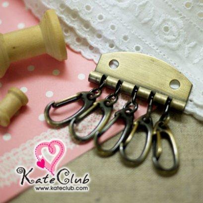 ที่เก็บกุญแจ สีทองเหลือง ขนาด 4x5 cm (1 แพค มี 3 ชิ้น)