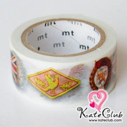 SALE - Limited Edition mt Japanese Washi Masking Tape-Pin Badges 20mm - สินค้ามือ 1