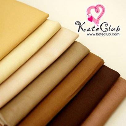 (712,740,765,786,813 หมดค่ะ) ผ้า Cotton สีพื้น โทนสีครีม-น้ำตาล **สำหรับเย็บตัวตุ๊กตา (1/4 ม.= 50 x 55cm)