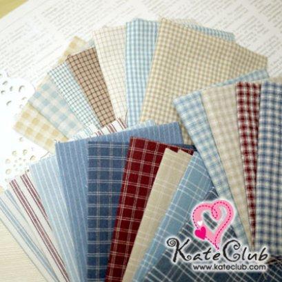 ผ้าคุณมาซาโกะ American Country ผ้าทอ ชิ้นละ 1/8 เมตร x 20 ชิ้น (27.5x50cm)