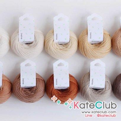 (No.1,3, 47 หมดค่ะ) ไหมพรม Daruma Yarn IroIro 100% Wool ยาว 70 m (มีให้เลือก 14 สี)