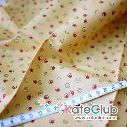 SALE - (เหลือ 1/4 หลา) ผ้า Cotton อเมริกา MODA - ลาย Color Bubble (ตัดขาย 1/4 หลา=45x55cm)