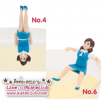 (พร้อมส่งเบอร์ 4,6) สาวน้อยเกาะแก้ว Cup no Fuchiko Series 2 - สีฟ้า