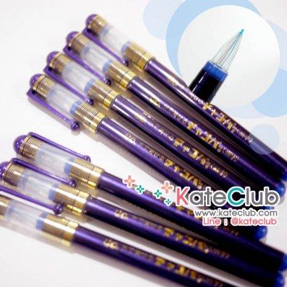 ปากกาเขียนผ้า chaco หัวเข็ม - สีฟ้า ด้ามน้ำเงินเข้ม จาก JAPAN (เส้นลบได้ด้วยน้ำ)