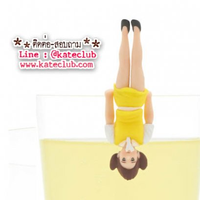 (พร้อมส่งเบอร์ 4) สาวน้อยเกาะแก้ว Cup no Fuchiko Series 2 limited loft - สีเหลือง รองเท้าดำ