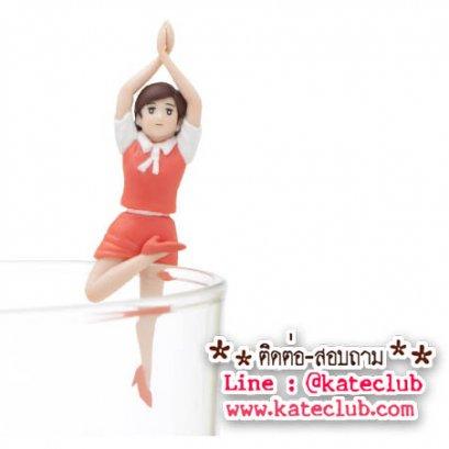 (พร้อมส่งเบอร์ 5) สาวน้อยเกาะแก้ว Cup no Fuchiko Series 5 - สีส้ม