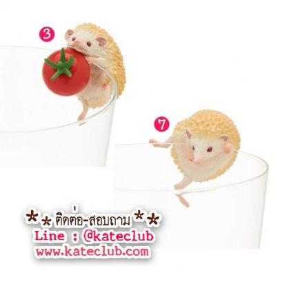 (พร้อมส่งเบอร์ 7) ตุ๊กตาเกาะแก้วน้องเม่น PUTITTO Hedgehog (ความสูงประมาณ 3-3.5 cm)