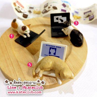(เหลือ No.5 ค่ะ) กาชาปอง -  น้องแมว+Notebook
