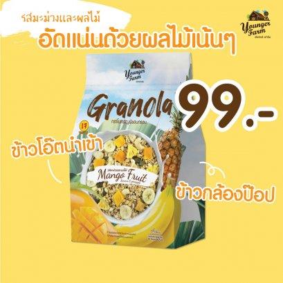 GRANOLA 1 BOXES MANGO AND FRUIT กราโนล่า 1 กล่อง รสมะม่วงและผลไม้ 225 g
