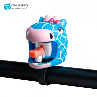 Crazy Safety Kids Bicycle Bell  - Blue Giraffe