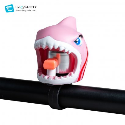 Crazy Safety Kids Bicycle Bell - Pink Shark