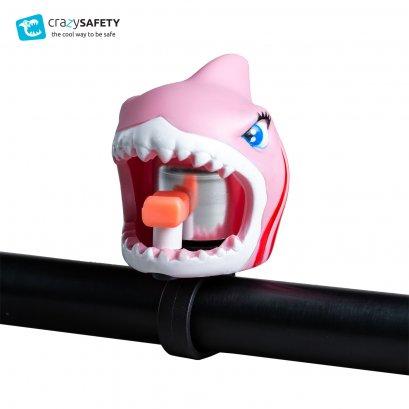 กระดิ่งจักรยานสำหรับเด็ก ลายฉลามชมพู Crazy Safety
