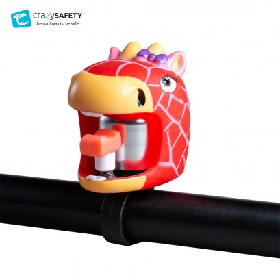 Crazy Safety Kids Bicycle Bell  - Red Giraffe