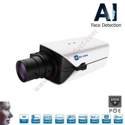 HP-97S40PE-E3-AI กล้องวงจรปิดไฮวิว กล้องจับป้ายทะเบียน ระบบไอพี 4 ล้านพิกเซล ใช้งานภายนอกและภายใน Hiview Bullet AI Technology IP Camera PoE 4 MP