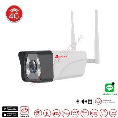 HW-33A30L-4G กล้องวงจรปิด 4G ไฮวิว โรบอท 3 ล้านพิกเซล ใช้งานภายนอกและภายใน มีไมค์ในตัว สามารถใส่ซิมและรับสัญญาณไวไฟได้  WiFi Robot Camera 3 MP Wireless LED Light